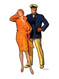 """Dapper Couple,""July 27, 1929 Giclee Print by McClelland Barclay"