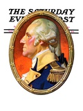 """Washington in Profile,"" Saturday Evening Post Cover, February 25, 1939 Giclee Print by J.C. Leyendecker"