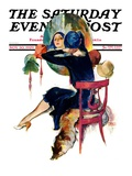 &quot;Hat Shop,&quot; Saturday Evening Post Cover, November 30, 1929 Giclee Print by John LaGatta