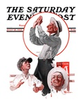 &quot;Fly Ball,&quot; Saturday Evening Post Cover, July 28, 1923 Giclee Print by Elbert Mcgran Jackson