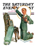"""Practice Proposal,"" Saturday Evening Post Cover, April 30, 1927 Giclee Print by Frederic Stanley"