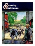 """Milking Time,"" Country Gentleman Cover, July 1, 1946 Giclee Print by Matt Clark"
