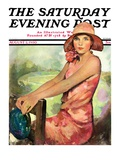 """Pretty in Pink,"" Saturday Evening Post Cover, August 2, 1930 Giclee Print by Ellen Pyle"