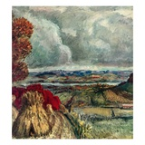 """Wisconsin River Valley,""October 1, 1946 Giclee Print by J. Steuart Curry"