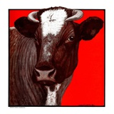 """Brown Cow,""March 8, 1924 Giclee Print by Charles Bull"
