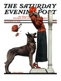 """Tipping the Scales,"" Saturday Evening Post Cover, October 13, 1923 Giclee Print by Joseph Farrelly"
