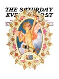 """St. Valentine,"" Saturday Evening Post Cover, February 15, 1936 Giclee Print by J.C. Leyendecker"
