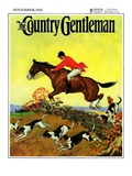 """Fox Hunter,"" Country Gentleman Cover, November 1, 1932 Giclee Print by Robert Keareote"