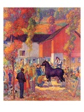 """Horse Auction,""October 1, 1944 Giclee Print by Henry Soulen"