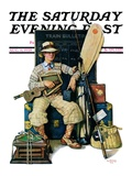 &quot;Going Home from Camp,&quot; Saturday Evening Post Cover, August 11, 1928 Giclee Print by Lawrence Toney