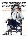 """Seated Woman,"" Saturday Evening Post Cover, February 17, 1923 Giclee Print by C. Coles Phillips"