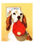 &quot;Hunting Dog and Cap,&quot;October 29, 1938 Giclee Print by Jack Murray