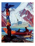 &quot;Changing Face of the Northwest,&quot;July 1, 1939 Giclee Print by Charles Hargens