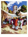 """Mexican Village Market,""June 1, 1938 Giclee Print by G. Kay"