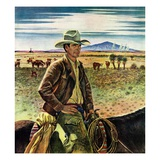 """Cattleman,""June 1, 1946 Giclee Print by Peter Hurd"