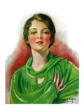 """Woman in Green,""March 23, 1929 Giclee Print by William Haskell Coffin"