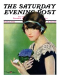 """Purple Posey,"" Saturday Evening Post Cover, May 22, 1926 Giclee Print by Penrhyn Stanlaws"