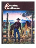 """Cowboy at End of the Day,"" Country Gentleman Cover, June 1, 1947 Giclee Print by Peter Hurd"