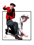 """Grandpa Goes Knuckles Down,""March 10, 1923 Giclee Print by J.F. Kernan"