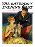 &quot;Ukulele Baby,&quot; Saturday Evening Post Cover, November 19, 1927 Giclee Print by Bradshaw Crandall