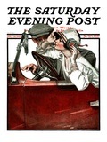 &quot;Woman Driver,&quot; Saturday Evening Post Cover, July 21, 1923 Giclee Print by Walter Beach Humphrey