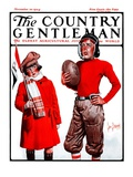 """Young Football Player,"" Country Gentleman Cover, November 22, 1924 Giclee Print by George Brehm"