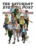 &quot;Boy&#39;s Baseball Team,&quot; Saturday Evening Post Cover, April 17, 1926 Giclee Print by Eugene Iverd