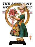 """Easter Dutch Girl,"" Saturday Evening Post Cover, April 3, 1926 Giclee Print by J.C. Leyendecker"