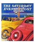 """World's Fair or Bust,"" Saturday Evening Post Cover, April 22, 1939 Giclee Print by John E. Sheridan"