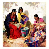 """Basket Weavers,""August 1, 1937 Giclee Print by G. Kay"