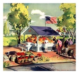"""Roadside Stand,""July 1, 1942 Giclee Print by Hardie Gramatky"