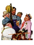 """World's Fair Traveler,""July 15, 1939 Giclee Print by Emery Clarke"