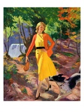 """A Walk in the Woods,""August 1, 1931 Giclee Print by John Newton Howitt"