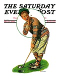 """""""Bee and Putter,"""" Saturday Evening Post Cover, September 8, 1928 Giclee Print by J.F. Kernan"""