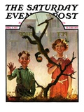 """Pet Shop Monkey,"" Saturday Evening Post Cover, April 9, 1927 Giclee Print by Frederic Stanley"
