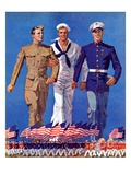 """Army, Navy and Marines,""November 13, 1937 Giclee Print by John E. Sheridan"