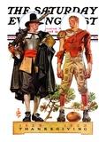 """""""Thanksgiving, 1628/1928,"""" Saturday Evening Post Cover, November 24, 1928 Giclee-trykk av Joseph Christian Leyendecker"""