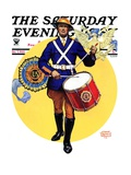 """American Legion Drummer,"" Saturday Evening Post Cover, October 7, 1933 Giclee Print by Edgar Franklin Wittmack"