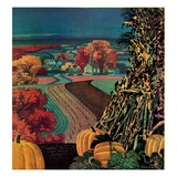 """Thanksgiving Harvest at Night,""November 1, 1945 Giclee Print by Francis Chase"