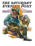 """Old Miner,"" Saturday Evening Post Cover, April 6, 1929 Giclee Print by Edgar Franklin Wittmack"