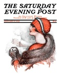 &quot;Woman and Snowball,&quot; Saturday Evening Post Cover, January 17, 1925 Giclee Print by James Calvert Smith