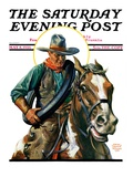 """Flat Tire,"" Saturday Evening Post Cover, May 8, 1926 Giclee Print by Edgar Franklin Wittmack"