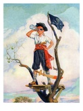 """Playing Pirate,""March 1, 1929 Giclee Print by William Meade Prince"