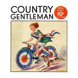 """Fourth of July Bike Ride,"" Country Gentleman Cover, July 1, 1934 Giclee Print by John Drew"