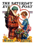 """Winter and Spring,"" Saturday Evening Post Cover, March 10, 1928 Giclee Print by Elbert Mcgran Jackson"