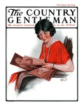 """""""Baby Photos,"""" Country Gentleman Cover, December 6, 1924 Giclee Print by Sam Brown"""
