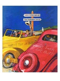 """World's Fair or Bust,""April 22, 1939 Giclee Print by John E. Sheridan"