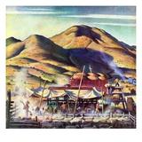 """""""Sheep Farm,""""May 1, 1942 Reproduction procédé giclée par Jean L. Huens"""
