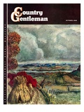 """Wisconsin River Valley,"" Country Gentleman Cover, October 1, 1946 Giclee Print by J. Steuart Curry"