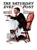 """Table Scraps,"" Saturday Evening Post Cover, December 15, 1923 Giclee Print by Elbert Mcgran Jackson"